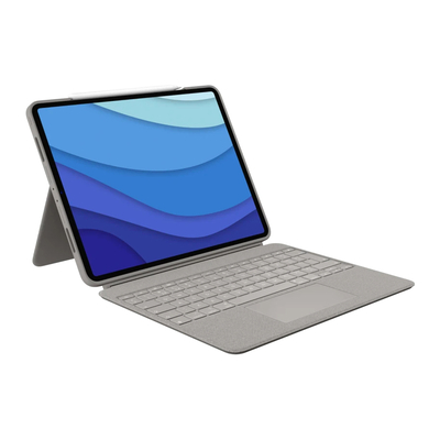 Logitech Combo Touch for iPad Pro 12.9-inch (5th generation) - QWERTY Mobile device keyboard - Zand
