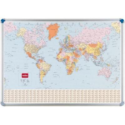 Nobo kaart: MAGN WERELDKAART STAATKUN - Multi kleuren
