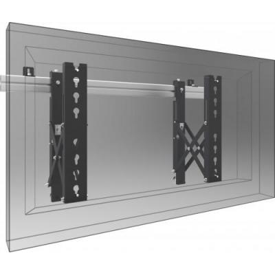 SmartMetals VideoWall muurbeugel - Push-to-Open Montagehaak - Zwart