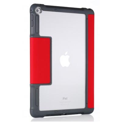 STM dux Tablet case - Grijs, Rood, Transparant