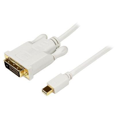 Startech.com : 1 m lange Mini DisplayPort-naar-DVI-adapterconverterkabel   Mini DP-naar-DVI 1920x1200 wit
