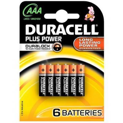 Duracell batterij: Alcaline, AAA, 1.5 V