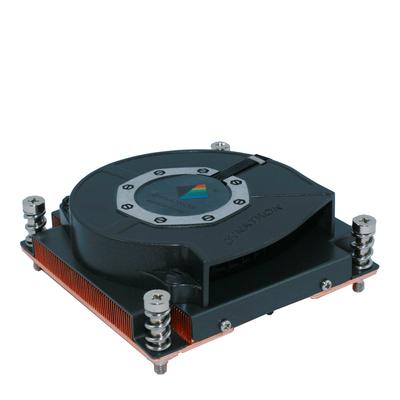 Inter-Tech R-16 Hardware koeling - Zwart, Koper