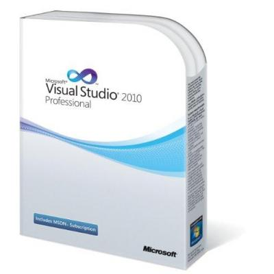 Microsoft software: VisualStudio 2010 Professional, DVD, EN, Embed Rtl, RNW