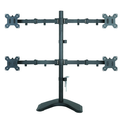 "Techly Desk monitor arm for 4 Monitor 13-27"" with base Monitorarm - Zwart"