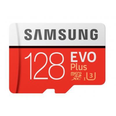 Samsung flashgeheugen: EVO Plus MB-MC128G - Rood, Wit