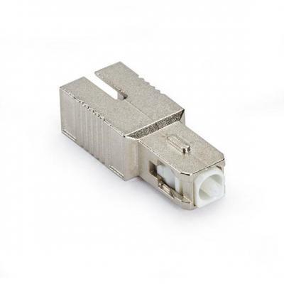 Black Box M/F SC, APC, 15dB Fiber optic adapter - Zilver
