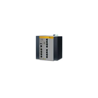 Allied Telesis AT-IE300-12GT-80 Switch - Zwart, Grijs