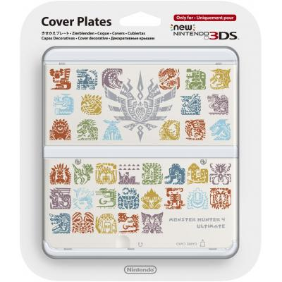 Nintendo portable game console case: New 3DS Cover Plate, Monster Hunter 4 Ultimate - Multi kleuren
