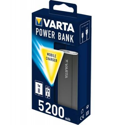 Varta powerbank: Power bank 5200 - Grijs