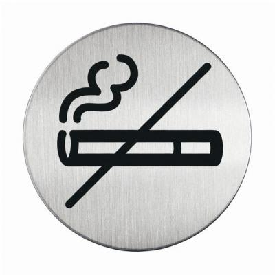 "Durable pictogram: PICTO ""No Smoking"" - Zilver"