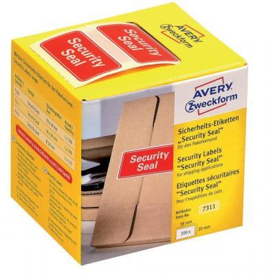Avery 7311 Etiket - Rood