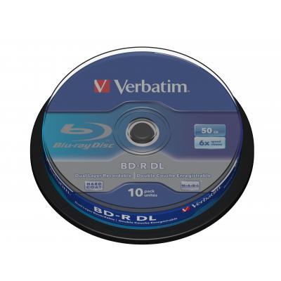 Verbatim BD: BD-R DL 50GB 6 x 10 Pack Spindle