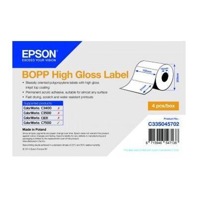 Epson etiket: BOPP HG 102mm x 51mm, 2770 - Wit