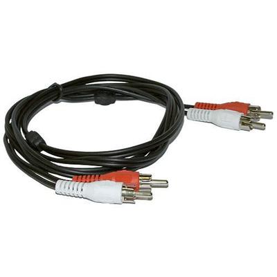 Microconnect 2xRCA - 2xRCA (3m) - Zwart