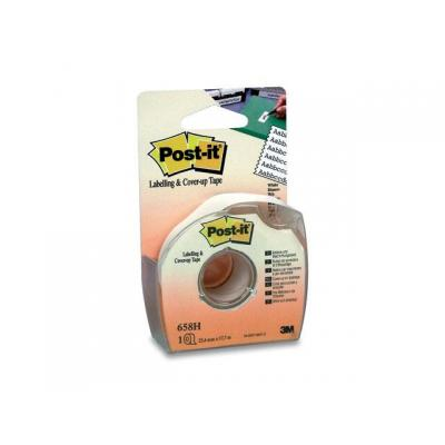 Post-it film/tape correctie: Correctietape 25,2mm 6rgl + disp