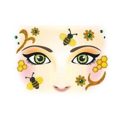 Herma sticker: Face Art Sticker Honey bee - Beige