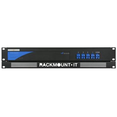 Rackmount.IT 2U, 5x RJ45, 5x 0.5m Kabels, RAL 9005 Zwart Rack toebehoren