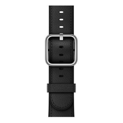 Apple : Zwart bandje, klassieke gesp (38 mm)