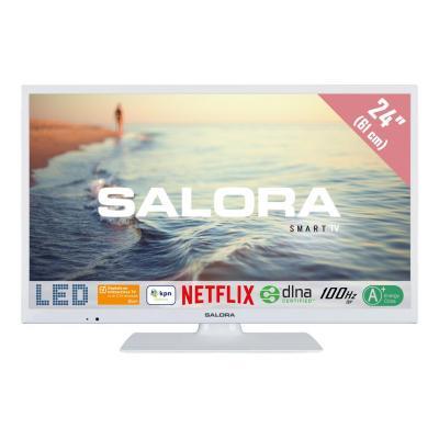 """Salora : 5000 series 24HSW5012 24"""" (61CM) SMART LED TV met Netflix, 100Hz bpr en USB mediaspeler - Wit"""