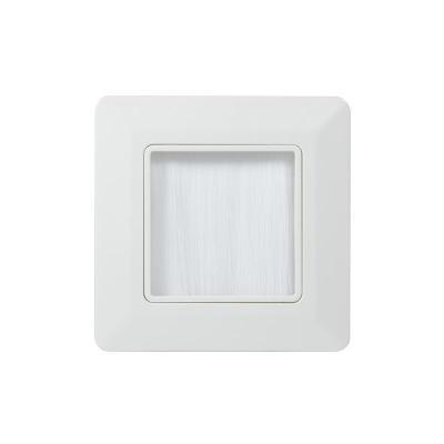 Logilink inbouweenheid: Wall faceplate, 80 x 80mm, White - Wit
