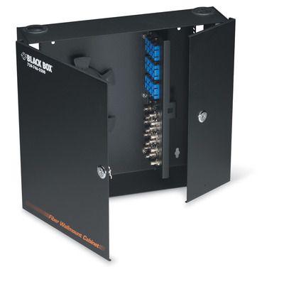 Black Box Wallmount Fiber Enclosure - Locking, 4-Slot - Zwart