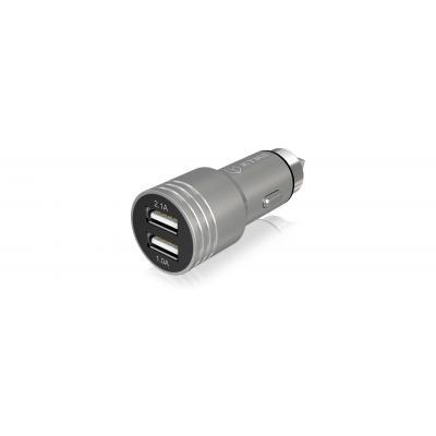 ICY BOX IB-CH202 Oplader - Zilver