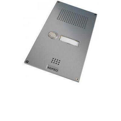 Agfeo deurintercom installatie: Premium TFE 1 silber - Zilver