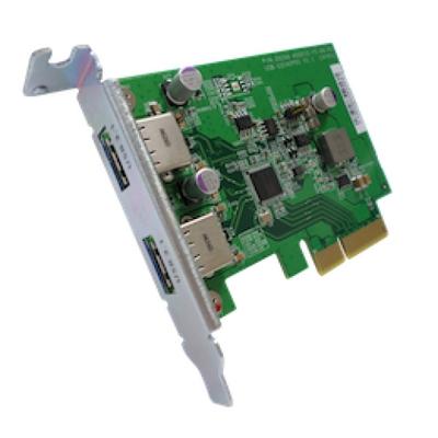QNAP USB-U31A2P01 Interfaceadapter - Groen