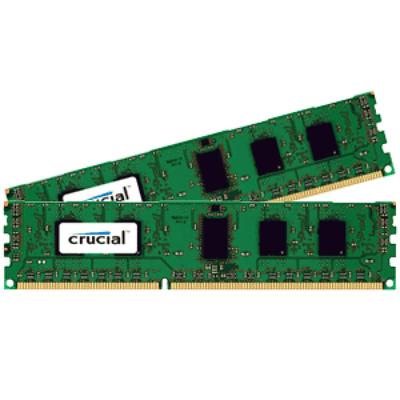 Crucial CT2K51264BD160B RAM-geheugen - Zwart, Groen