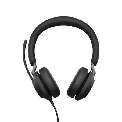 Jabra Evolve2 40, MS Stereo, USB-C Headset - Zwart