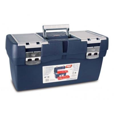 Tayg Plastic Tool Box, Box Blue, Tray Red - Blauw, Rood