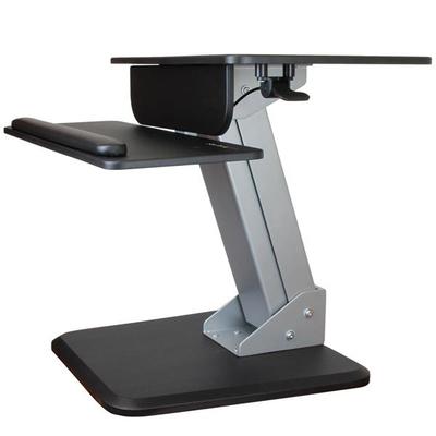 StarTech.com Zit sta bureau ergonomische werkplek Multimedia kar & stand - Zwart,Zilver