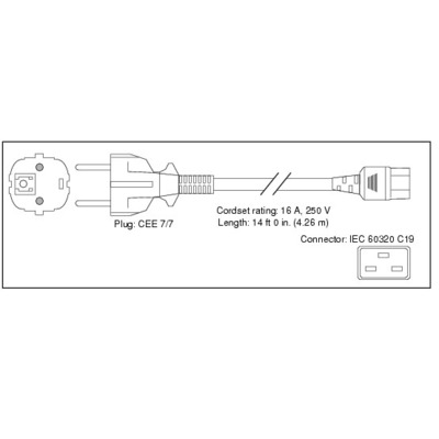 Cisco Power Cord for UCS 5108, Japan and North America, Spare Electriciteitssnoer