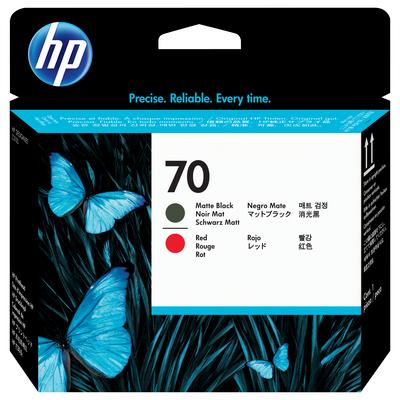 HP 70 Printkop - Mat Zwart, Rood