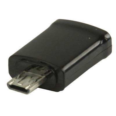 Valueline 0.2m MHL- microUSB B m/f Kabel adapter - Zwart