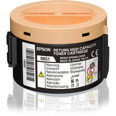 Epson Return High Capacity Cartridge Black 2.2k Toner - Zwart