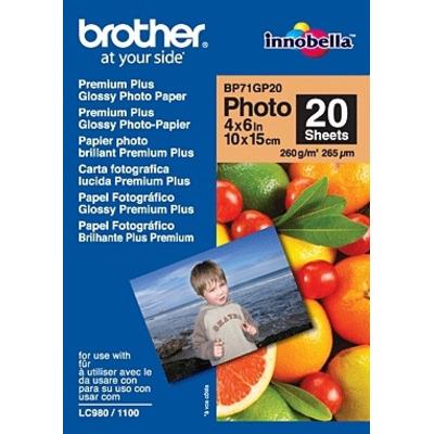 Brother BP71GP20 Premium Glossy Photo Paper Fotopapier - Wit