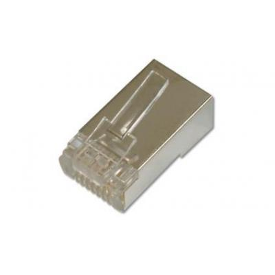 ASSMANN Electronic CAT 6 Modular plugs for round cable Kabel connector - Nikkel, Transparant
