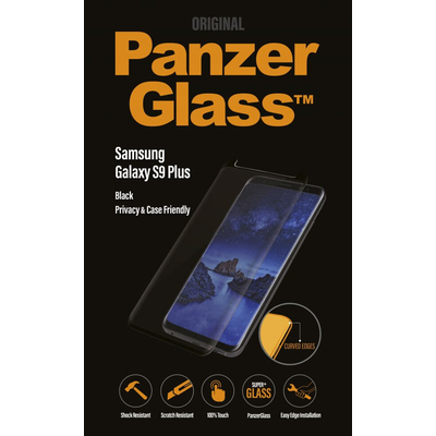 PanzerGlass Samsung Galaxy S9+ Curved Edges Privacy Screen protector - Transparant