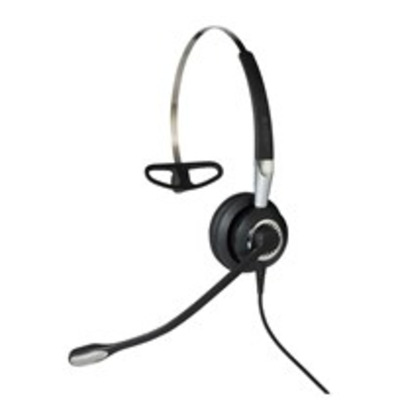 Jabra Biz 2400 II QD Mono NC 3-in-1 Wideband Balanced Headset - Zwart, Zilver