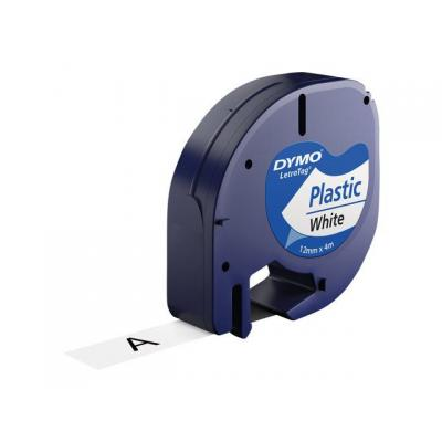 Dymo labelprinter tape: 12mm LetraTAG Plastic tape