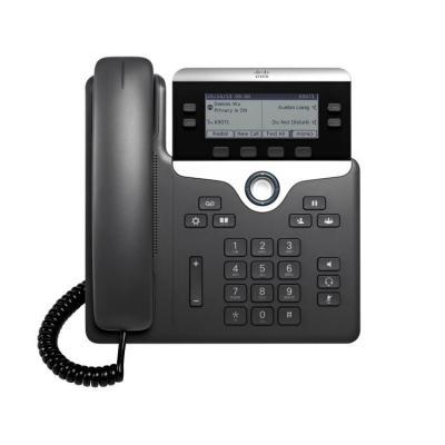 Cisco ip telefoon: 7821 - Zwart, Zilver