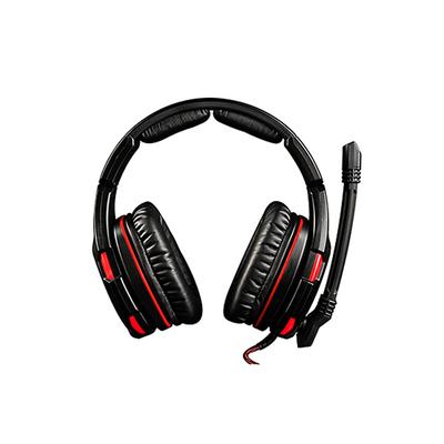 Modecom VOLCANO GHOST Headset - Zwart, Rood