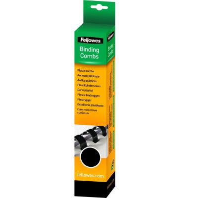 Fellowes inbinder: Plastic bindrug 8mm, zwart