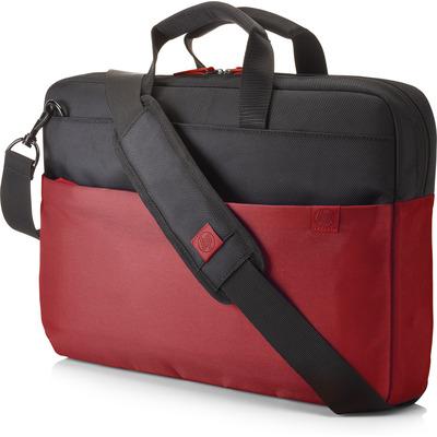 HP 15.6 Duotone Red BriefCase Laptoptas - Zwart, Rood