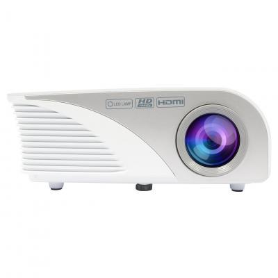 Salora beamer: Een compacte voordelige LED beamer met ingebouwde TV tuner voorzien van 1200 ansi lumen - Grijs, Wit