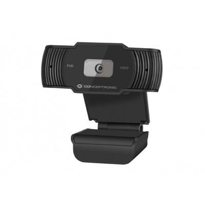 Conceptronic 720p HD, CMOS, f= 3.6mm, 30fps, USB-A, DC 5V, 1.5 m, Black Webcam - Zwart