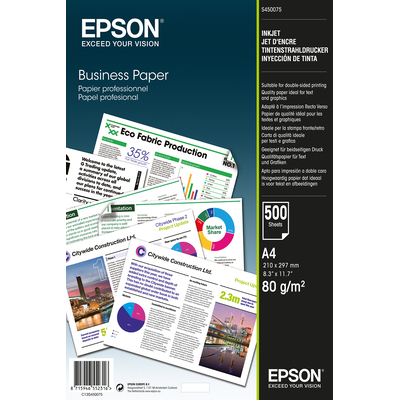 Epson papier: Business Paper - A4 - 500 vellen - Wit