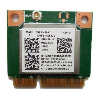 HP WLAN 802.11 b/g/n Adapter notebook reserve-onderdeel - Groen